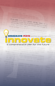 "cover of comprehensive plan, ""Innovate"""