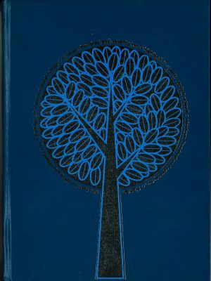 stylized tree on dark blue background