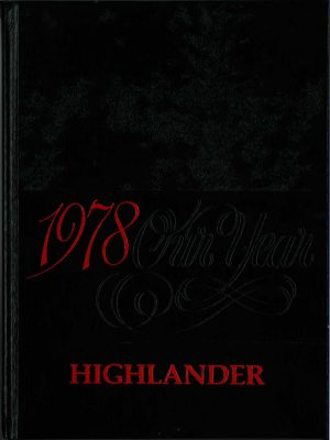"black book cover with red lettering, ""1978 Highlander"""