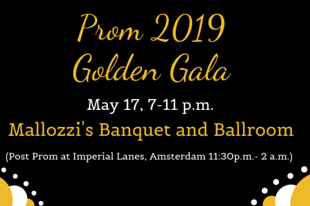 Golden Gala Prom set for Friday, May 17
