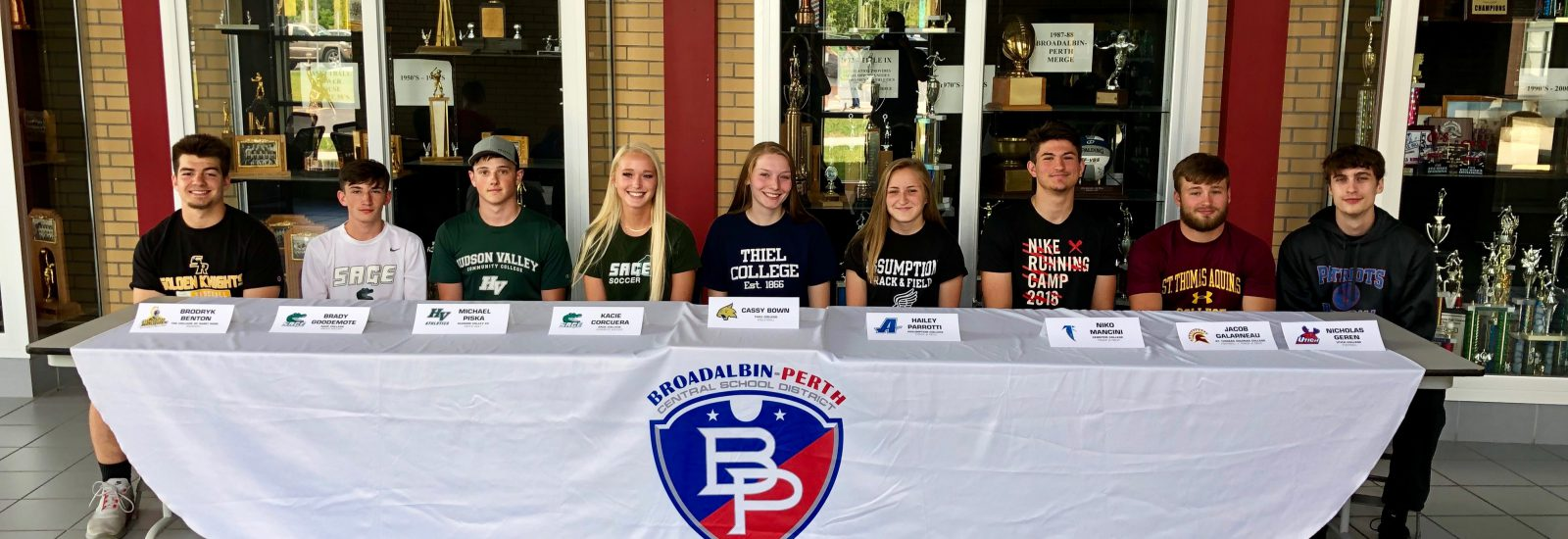 Nine B-P senior student-athletes to play collegiate sports this fall