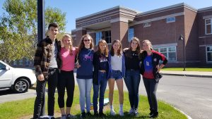students from lake pleasant pose outside BPHS