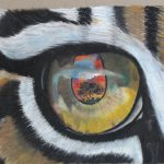 painting of a tiger's eye