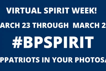 B-P to host virtual spirit week starting Monday, March 23 (March 21)