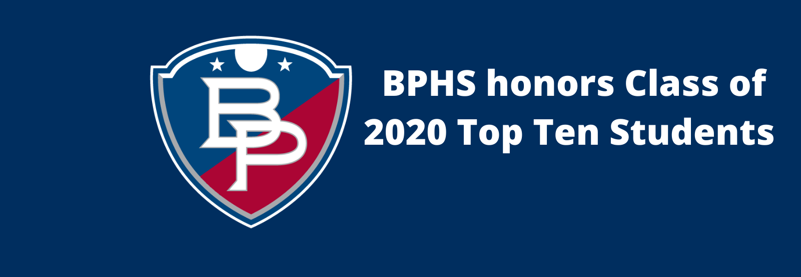BPHS honors Class of 2020 Top Ten Students
