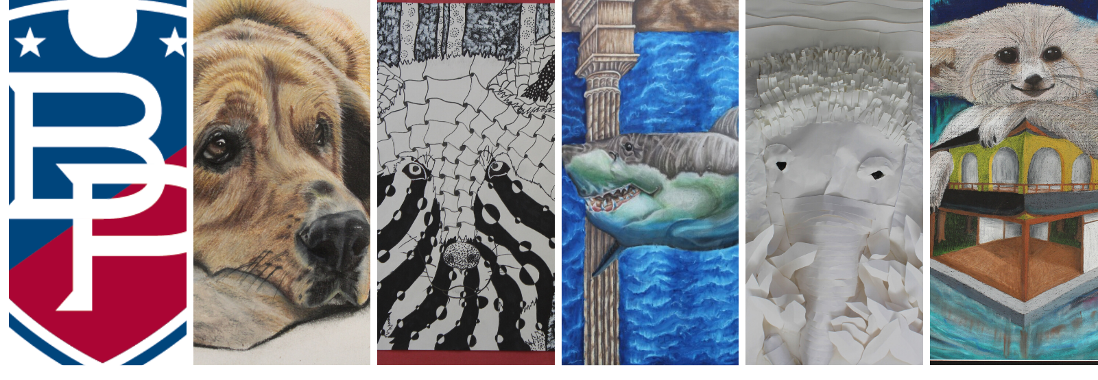 views of student artwork for SPAC 2020