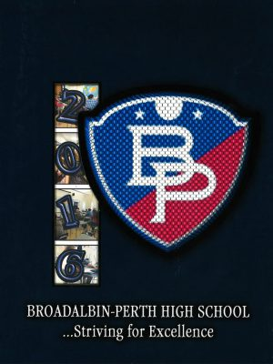 B-P blue and red shield logo on dark blue background