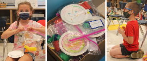 images of students using their personalized music kits