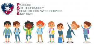 a graphic is shown with the BP logo and the acronym PATS, with 8 images of children.