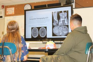 students learn about medical imaging