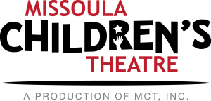 """a graphic logo reads """"Missoula Children's Theatre"""" in red and black"""
